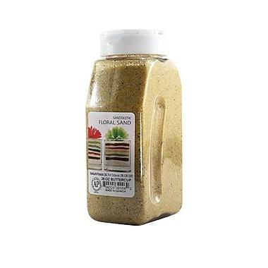 Sandtastik® Floral Coloured Sand, 28 oz (795 g) Bottle, Buttercup