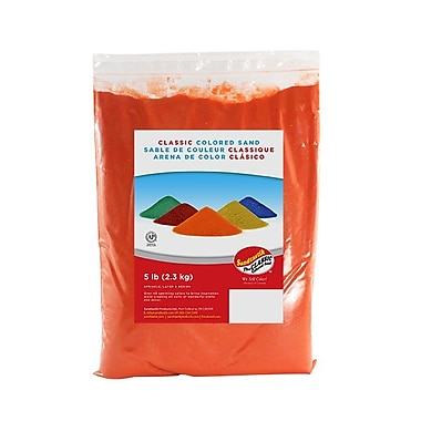 Sandtastik® Classic Coloured Sand, 5 lb (2.3 kg) Bag, Orange