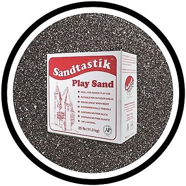 Sandtastik® Classic Coloured Sand, 25 lb (11.3 kg) Box, Black