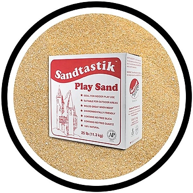 Sandtastik® Classic Coloured Sand, 25 lb (11.3 kg) Box, Tan