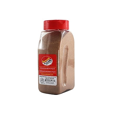 Sandtastik Classic Coloured Sand, 28 oz (795 g) Bottle, Cocoa, 8/Pack