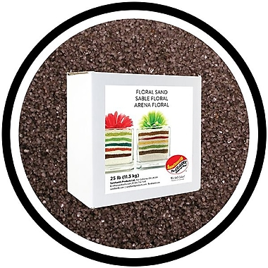 Sandtastik® Floral Coloured Sand, 25 lb (11.3 kg) Box, Dark Grey
