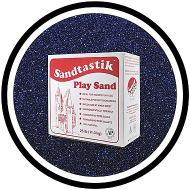 Sandtastik® Classic Coloured Sand, 25 lb (11.3 kg) Box, Navy Blue
