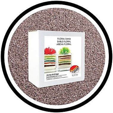Sandtastik® Floral Coloured Sand, 25 lb (11.3 kg) Box, Light Grey