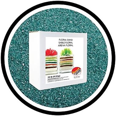 Sandtastik® Floral Coloured Sand, 25 lb (11.3 kg) Box, Teal