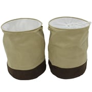 Cathay Importers Milano Microsuede Round Laundry Hamper, Beige and Brown, 2/Pack