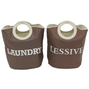 Cathay Importers Bilingual Laundry Hamper, Brown, 2/Pack