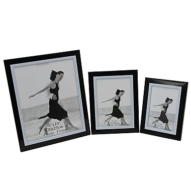 Cathay Importers Aluminum Photo Frame, Black, 3/Pack