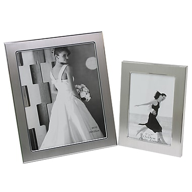 Cathay Importers Aluminum Photo Frame, Silver, 2/Pack