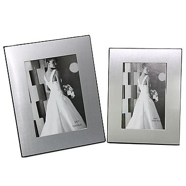 Cathay Importers Aluminum and Black Velvet Photo Frame, 2/Pack