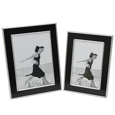 Cathay Importers Aluminum Photo Frame, Black, 2/Pack