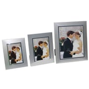 Cathay Importers Aluminum Grain Finish Photo Frame, Silver, 3/Pack