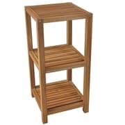 Cathay Importers – Étagère 3 étages en bois d'Acacia, brun