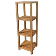 Cathay Importers – Étagère 4 étages en bois d'acacia, brun