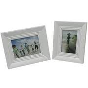 Cathay Importers - Cadre photo en bois, blanc, paq./2