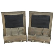 Cathay Importers – Tableau noir mural avec compartiments, brun, paq./2