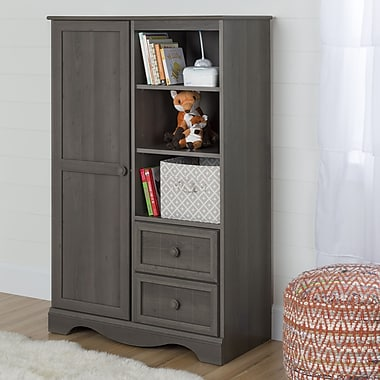 South Shore – Armoire de rangement avec tiroirs, collection Savannah, érable gris