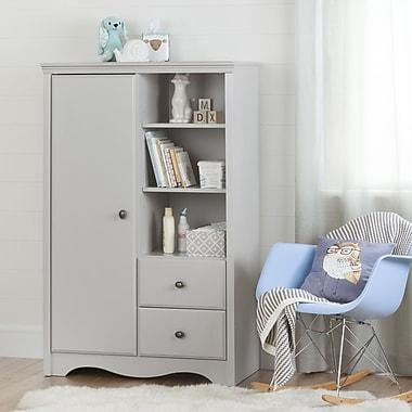 South Shore – Armoire de rangement avec tiroirs, collection Angel, gris clair