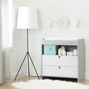 South Shore Cookie Changing Table/Dresser, Soft Grey and Pure White