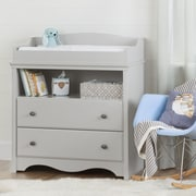 South Shore Angel Changing Table with Drawers, Soft Grey