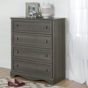 South Shore Savannah 4-Drawer Chest, Grey Maple