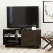 South Shore Fynn TV Stand with Drawers for TVs up to 55'', Brown Oak