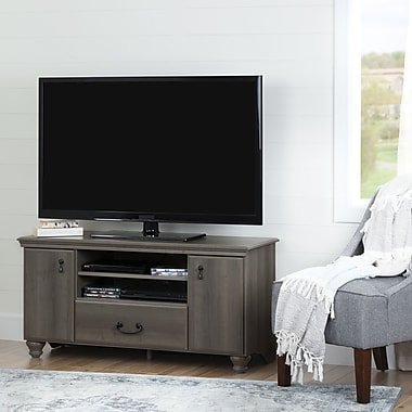 South Shore Noble TV Stand for TVs up to 55'', Grey Maple