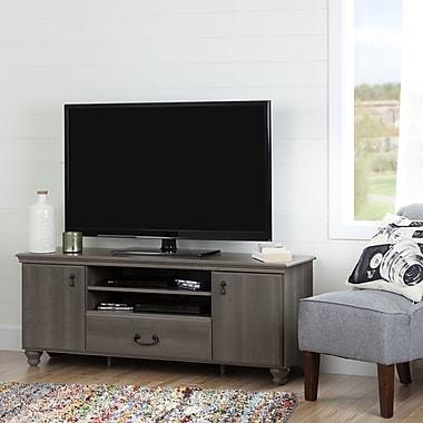South Shore – Meuble pour téléviseur jusqu'à 65 po, érable gris, collection Noble
