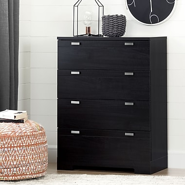 South Shore – Commode 4 tiroirs, collection Reevo, onyx noir