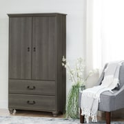 South Shore Noble Armoire with Drawers, Grey Maple