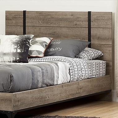 South Shore – Tête de lit pour lit deux places/grand lit (54/60 po), collection Valet, chêne vieilli