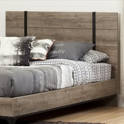 South Shore Valet Full/Queen Headboard (54/60''), Weathered Oak