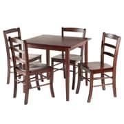 Winsome – Ens. de salle à manger 5 pièces Groveland avec table carrée et 4 chaises, fini noyer antique