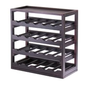 Winsome Kingston, Stackable Removable Tray 20 Bottle Wine Cube, Espresso
