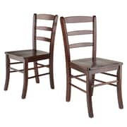 Winsome Wood Ladder Back Chair, Antique Walnut