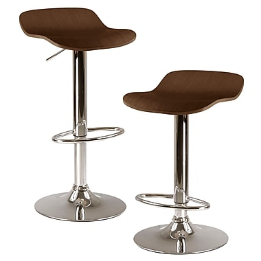Winsome Kallie Air Lift Adjustable Stools, Cappuccino, 2/Pack