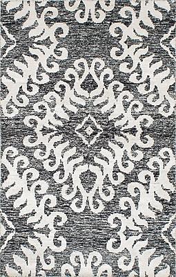 ECARPETGALLERY One-of-a-Kind Sari Hand-Woven Black/Cream Area Rug