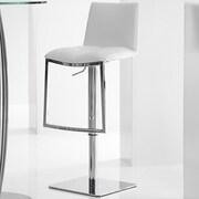 Bellini Modern Living Milano Adjustable Height Swivel Bar Stool; White