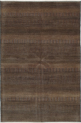 ECARPETGALLERY One-of-a-Kind Shevra Hand-Woven Black/Brown Area Rug