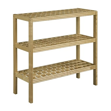 New Ridge Home Goods Beaumont 35'' Etagere Bookcase; Blonde