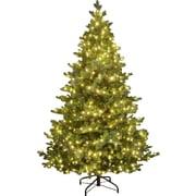 Hometime Snowtime 6.6' Green Pre-Lit Alaskan Spruce Artificial Christmas Tree w/ 350 Clear Lights
