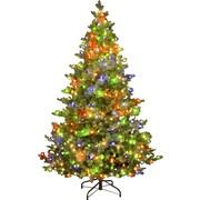 Hometime Snowtime 6.6' Green Pre-Lit Alaskan Spruce Artificial Christmas Tree w/ 350 Color Lights
