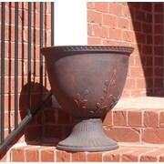 Griffith Creek Designs Fiber Clay Urn Planter; Dusk Gray