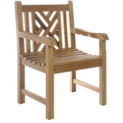 ChicTeak Chippendale Teak Dining Arm Chair