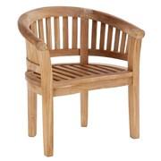 ChicTeak Peanut Teak Dining Arm Chair