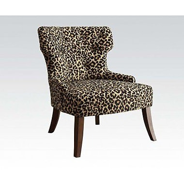 ACME Furniture Claribel Leopard Fabric Side Chair