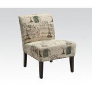 ACME Furniture Reece Fabric Slipper Chair