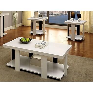 Hokku Designs Eran 3 Piece Coffee Table Set; White