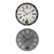 Creative Co-Op 2-Piece Marissa Wall Clock Set (Set of 2)
