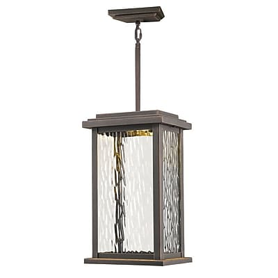 Artcraft Lighting Sussex Drive 1-Light Outdoor Hanging Lantern; Oil Rubbed Bronze